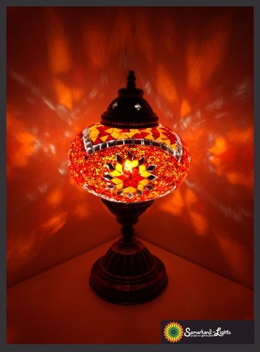 Tischlampe L / Orange / (Art: L-004)